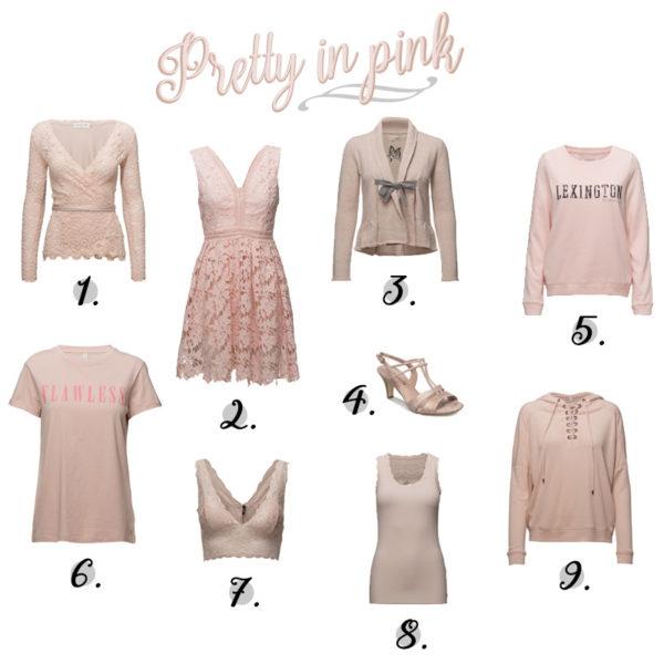 Puderrosa kläder alla modefantaster som älskar rosa måste ha