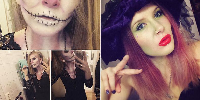 Halloween sminkning