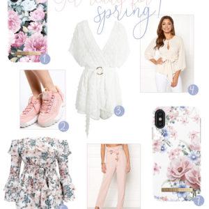 Snygga vårkläder med ljusa färger & blommiga mönster